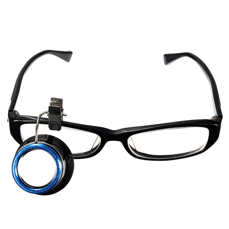 1Pcs 10x Clip-On Eyeglass Eye Magnifier Loupes Magnifying Lens Watchmakers Jewellers Repair Tool