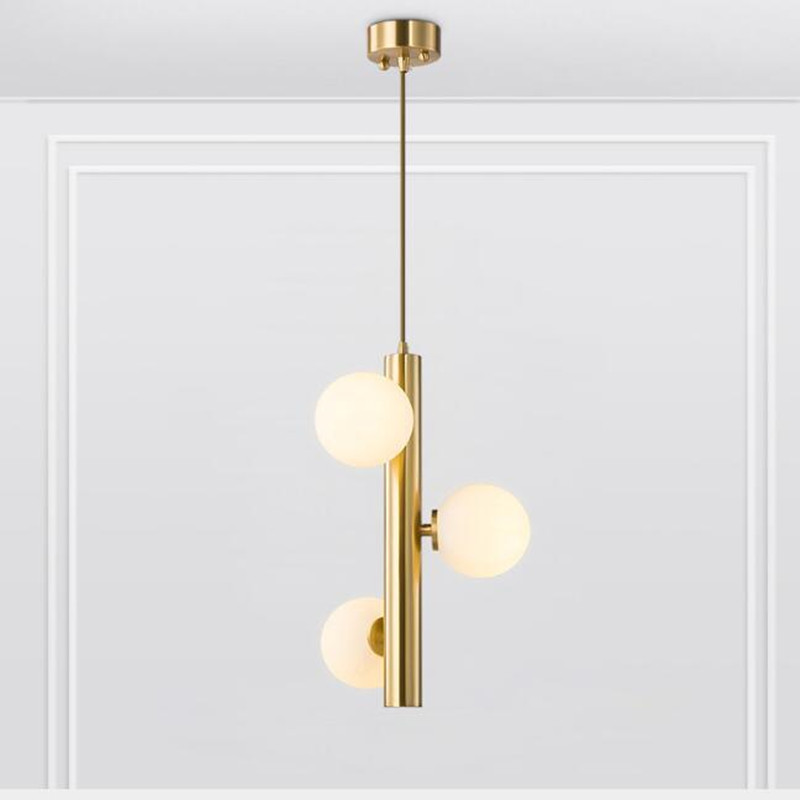 Nordic Loft Designer Golden Chandelier Concise Molecular Living Room Hotel Room Bedside Dinner Led Light Fixtures цена
