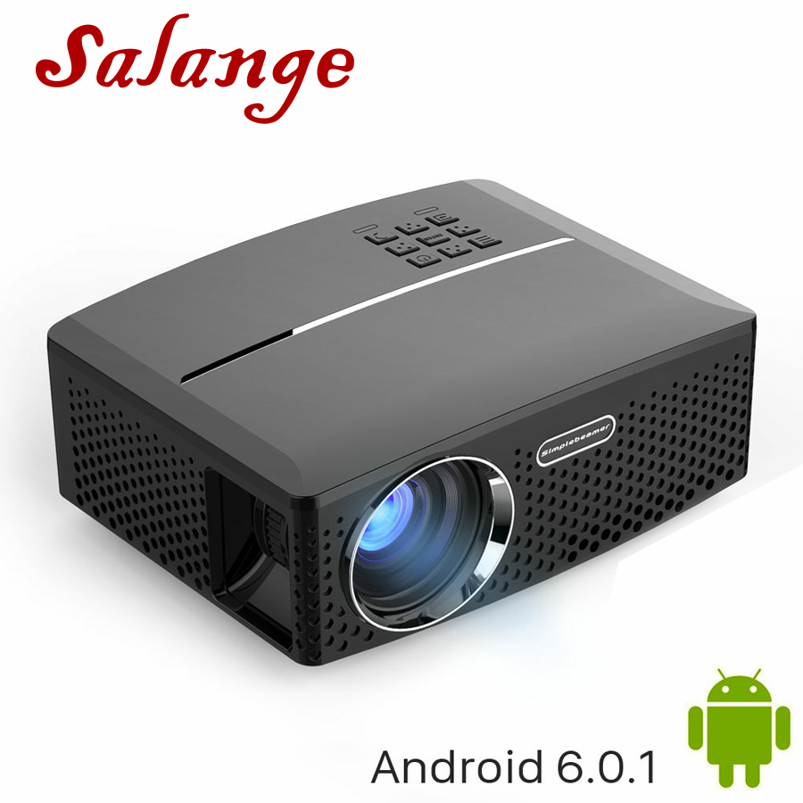 Salange Digital Projector GP80UP 1800-Lumens Cheap LED HDMI USB 800--480 PC China