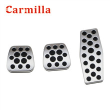 Carmilla Stainless Steel Manual Clutch Throttle Brakes Foot pedal case For chevrolet chevy Cruze AT MT Modified Accessories