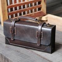 Коровья кожа почтальонская сумка портфель женский ручной работы ретро коробка сумка женская натуральная кожа роскошные сумки женские сумк