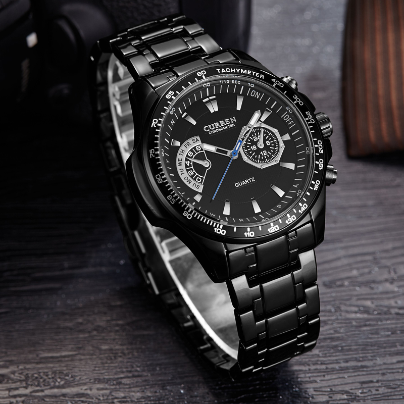 Image 4 - Curren quartz Black  Vogue Business Military Man Men's watches 3ATM waterproof Dropship 8020 Relogio-in Quartz Watches from Watches
