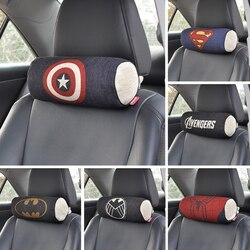 Marvel cartoon avengers super héros voitures siège appuie-tête oreiller pour le cou automobile oreillers sous coussin set auto accessoires