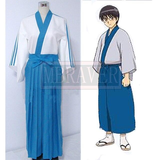 Free Shipping Cheap Gintama Shinpachi Shimura Cosplay Costume Anime