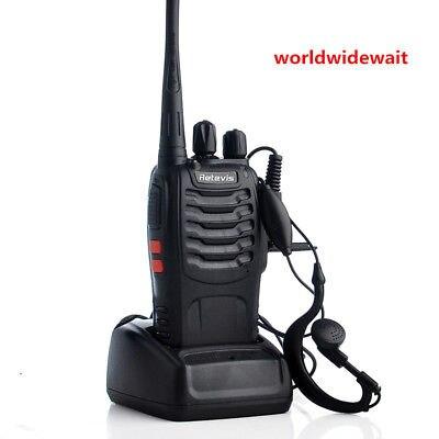 2pcs Retevis H777 2-Way Radio Walkie Talkie UHF 5W 16CH Single Band 3.7V DC 2pcs baofeng bf a5 5w 16ch walkie talkie uhf 400 470mhz fm ham two way radio