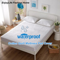 Size 180x200cm Quilted Cotton Mattress Pad Cover Bed Waterproof Mattress Protector for Bed Protection Mattress Topper Bed Cover