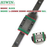 HIWIN MGN9C linear slider block with 200mm 350mm 400mm 500mm MGNR9 linear guide rail for 3d printer CNC parts 9 mm MGN