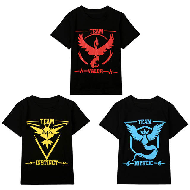 258aba45 placeholder Pokemon Go Baby Boys Kids T shirt Team Valor Mystic Instinct  boy clothes Pokeball summer Tee