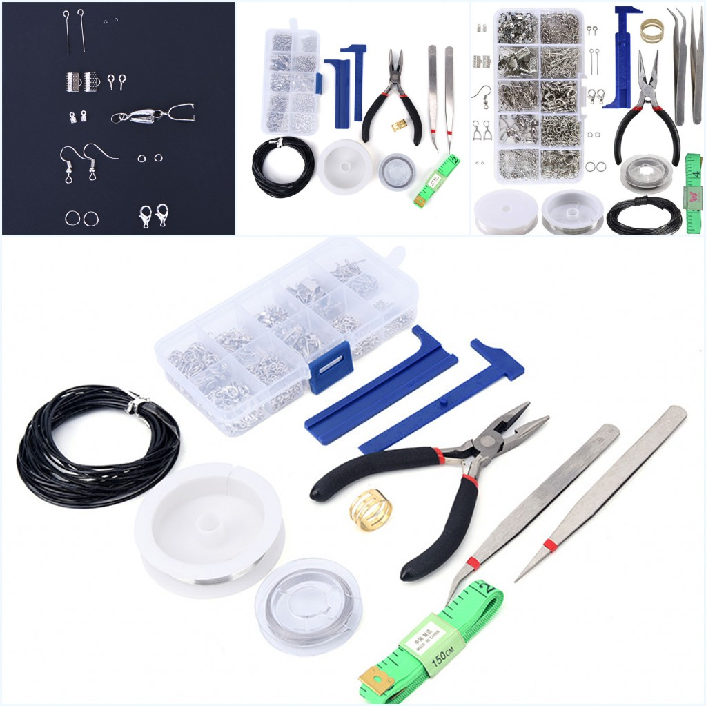 2019 Hot 1 Set Pliers Silver Beads Wire Starter Tool Kit DIY Hnadmde Jewelry Making Repair Tool