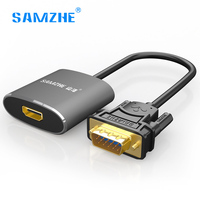 SAMZHE VGA To HDMI Cable Male To Famale VGA HDMI Adapter Converter With Audio 1080P For