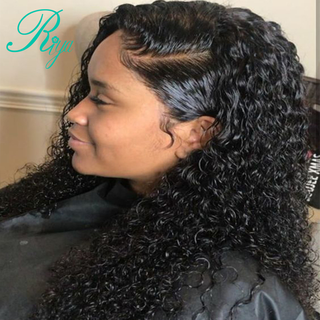 Riya Hair Curly Lace Front Human Hair Wigs For Women Brazilian Remy Hair  Glueless Lace Wig Pre-Plucked Hairlline With Baby Hair 5346e2be5