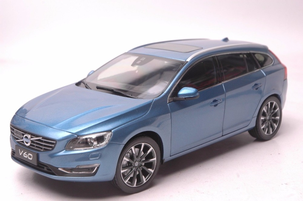 1:18 Diecast Model for Volvo V60 2016 Blue SUV Alloy Toy Car Miniature Collection Gifts free shipping ym0504pfs3 4010 4cm 40mm dc 5v 0 19a turbo blower notebook laptop fan