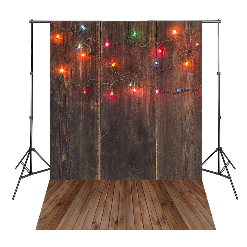Colorful Lights Brown Wood Board Photography Backdrops Photo Background Light Spot Fond Navidad 215cm 150cm backgrounds blossom petals colorful colorful floral scent the air tricks slim co photography backdrops photo lk 1135