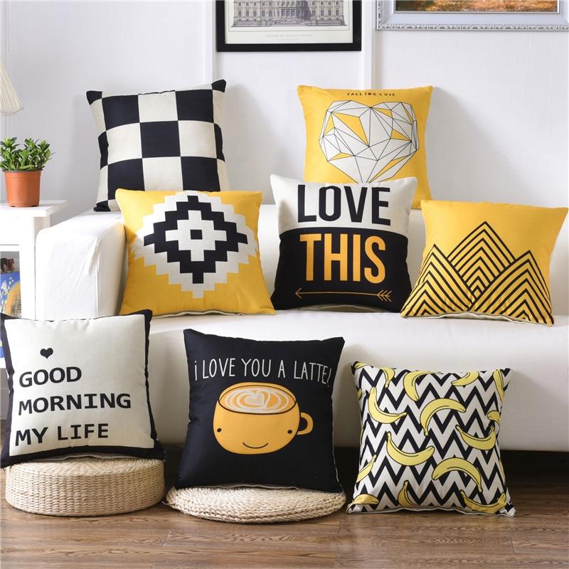 Hot Sale Hap Deer Nordic Simply Geometric Pillow Home Decor Black