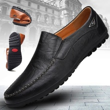 hot deal buy 2019 new fashion mens luxury dress shoes male casual leather driving shoes formal shoes business office shoes plus size 38-48
