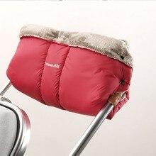 Bébé poussette d'hiver Étanche landau main muff transport gants embrayage panier gant YoYa fauteuil roulant accessoires épais guantes