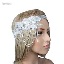 Оголовье девушка горный хрусталь Кристалл сияющий старинные невесты лента для волос свадьба головной убор волос fascinators для свадьбы