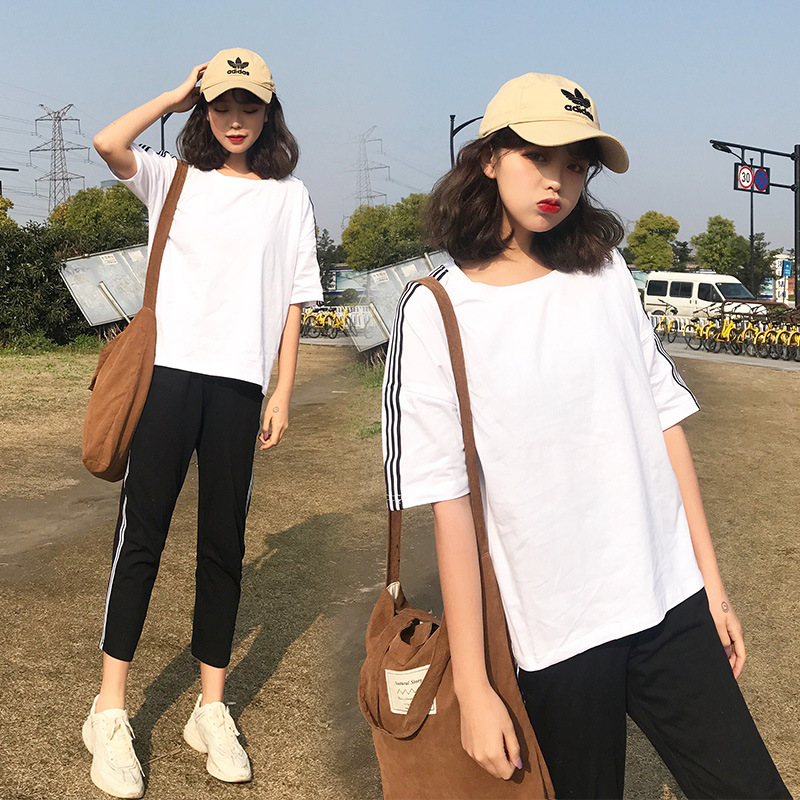 Women Sets 2018 Fashion Half Sleeve Bodycon Slim Sweat Suits Hoodies Tracksuit Sweatshirt Two Piece Trousers Women