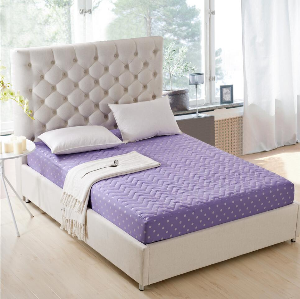 Charmant SunnyRain Polyester Thick Mattress Protector Quilted Bed Sheet Queen Size  Fitted Bed Sheet Mattress Cover Pocket Depth 30cm In Sheet From Home U0026  Garden On ...