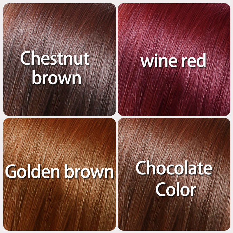 Color hair dye without hurting hair Four colors golden brown