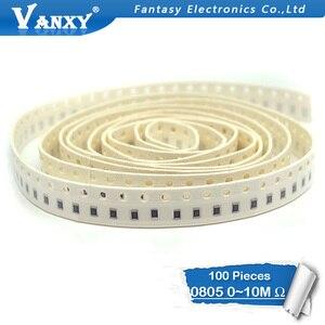 100Pcs 0805 SMD 1/8W chip resistor 0R ~ 10M 0 10R 100R 220R 330R 470R 1K 4.7K 10K 47K 100K 0 10 100 330 470 ohm(China)