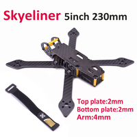 Skyeliner 5inch wheelbase 230mm 230 5' true X with 4mm arms FPV Quadcopter drone frame kit better than Rooster 230