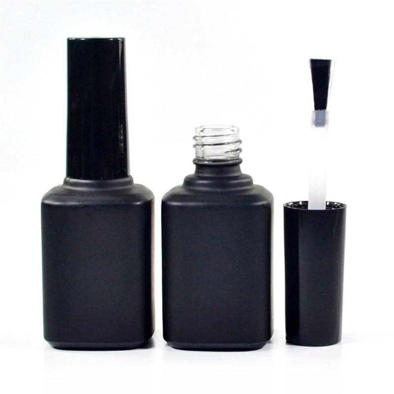 Matte Black Gel Nail Polish: 100pcs 14ml Clear Matte Black Glass Uv Gel Nail Polish