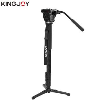KINGJOY Official MP3208F+VT-3510 Carbon Fiber Monopod Dslr For All Models Camera Tripod Stand Movil Flexible Stativ SLR DSLR