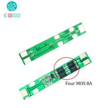 8A 2 S 18650 بطارية ليثيوم لوح حماية 2 سلسلة 7.4 فولت 8.4 فولت بوليمر تهمة التفريغ حماية الدائرة عالية الحالية BMS PCM