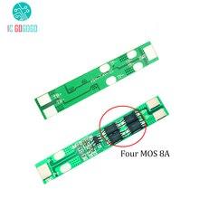 Плата защиты литиевых аккумуляторов 8A 2 S 18650, 2 шнура 7,4 В 8,4 В, полимерная схема защиты от разрядки, высокотоковая BMS PCM