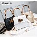 Роскошная крокодиловая женская сумка  бамбуковые сумки с верхней ручкой  дизайнерский замок  сумка через плечо  маленькая сумка с клапаном  ...