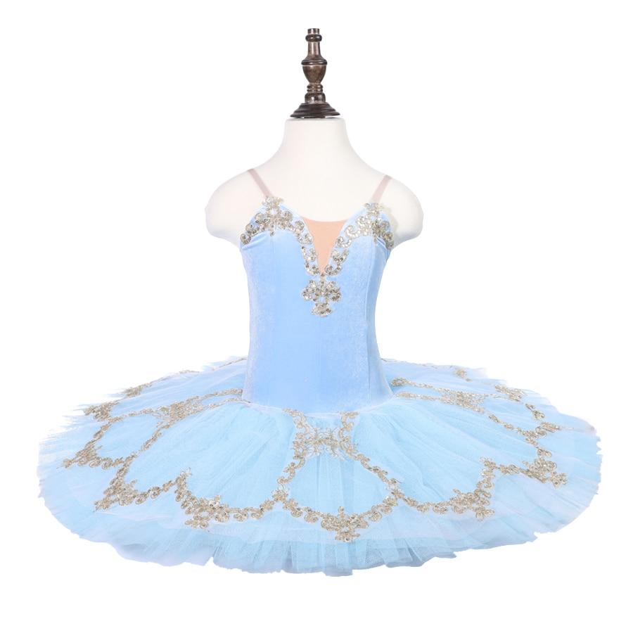 Aqua Blue Professional Ballet Tutu Pancake Classical Ballet Tutu Performance Stage Competition Ballerina Blue Stage Platter Tutu