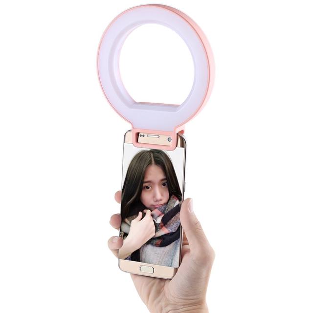 ISF Charmeyes Anillo LED Lámpara Auto-temporizador Ajustable Brillo Complementario Foco Oscuridad Mejorar ZEEPin