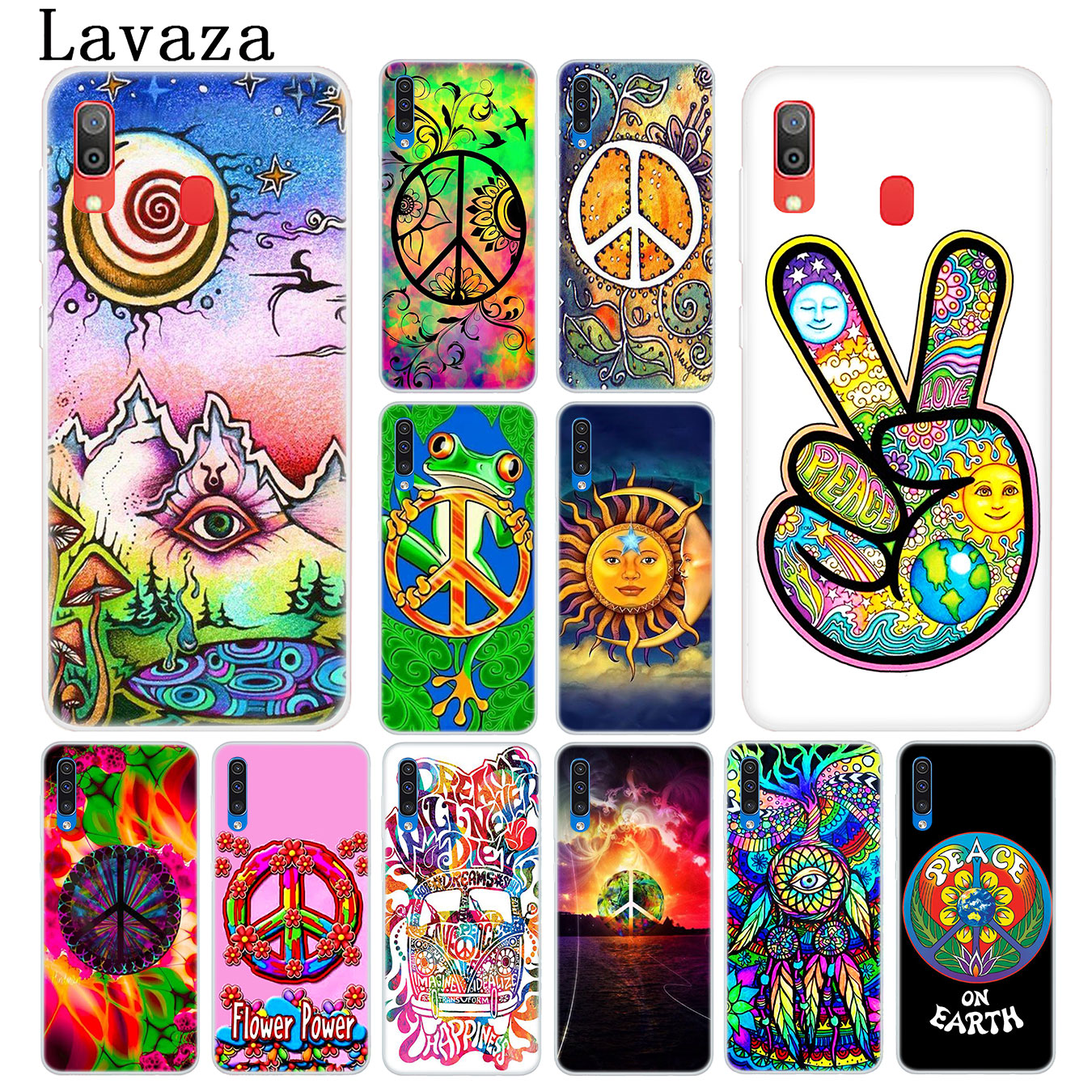 Lavaza Hippy Hippie Psychedelic Art Peace Phone Case for Samsung Galaxy A10 A20 A30 A40 A50 A60 A70 M40 M30 M20 M10 A20e Cover image