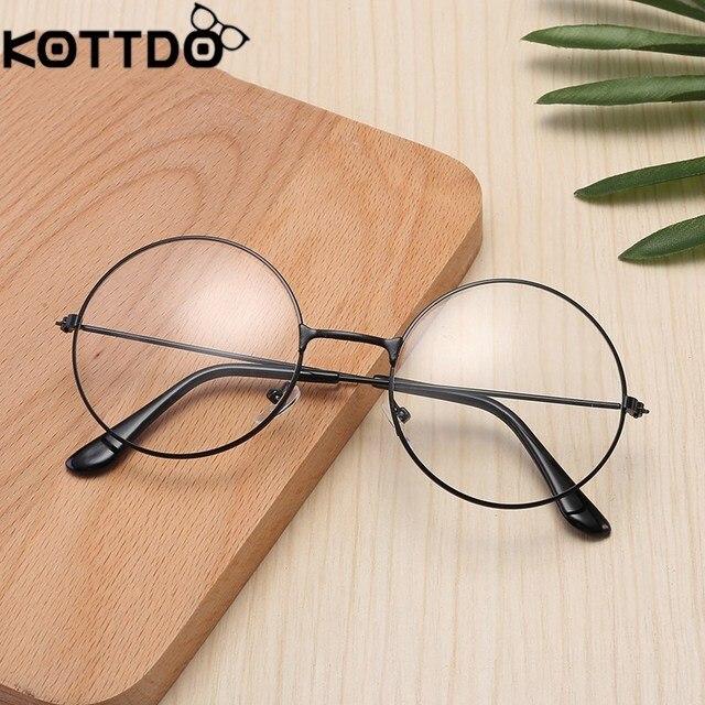453d77fe64b3d KOTTDO Retro płaskie lustro metalowe ramki okularów mężczyźni okrągły oczu ramki  okularów dla kobiet Oprawki do