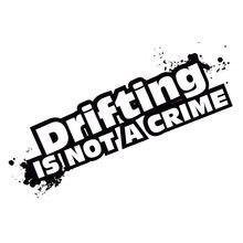 15,3*6 см модные наклейки на автомобиль «Дрифтинг-это не преступник», креативные виниловые чехлы для стайлинга автомобиля, черные/Серебристые...