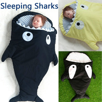 2016 Best organic cotton 2 years old baby sleeping bag sleeping bag children's toys Sharks stroller sleeping bag Storage Bag