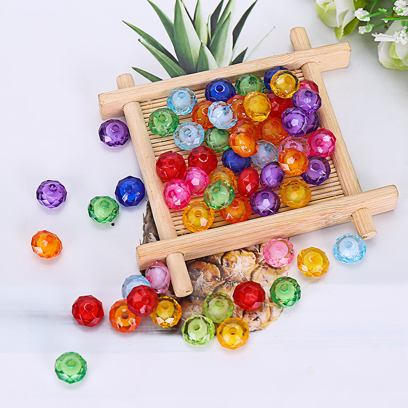 50pcs 8mm Beads Toys For Children Girl Gifts DIY Lacing Necklace Bracelets Kids Kindergardon Beaded Puzzles Educational Toy