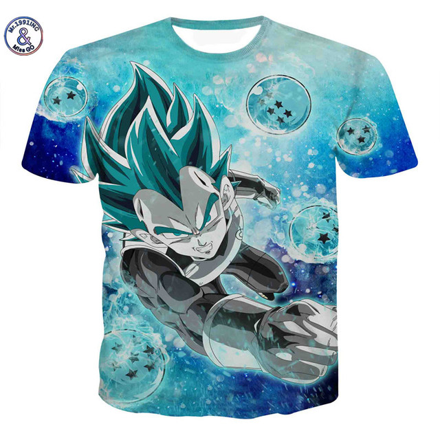 Mr.1991INC&Miss.GO Summer New Men Dragon Ball Z t-shirt Son Goku Vegeta Bodybuilding T Shirt Super Saiyan Shirt Clothes Tees Top