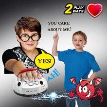 Полиграф хитрый смешной регулируемый взрослый тест микро электрический детектор лжи шокирующий лжец истина вечерние игровые консоли игрушки подарки