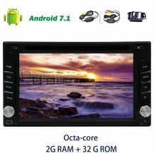 2 din autoradio Car Radio Stereo 2din Android 7.1 dvd player Support GPS Navigator Bluetooth Wifi 1080P Video Player+rear Camera