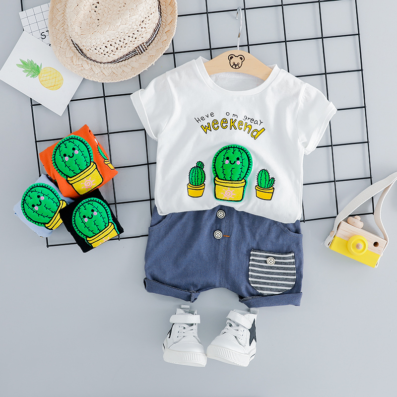 HYLKIDHUOSE 2019 Summer Infant Clothes Suits Baby Girls Boys Clothing Sets Casual T Shirt Shorts Kids Children Vacation CostumeHYLKIDHUOSE 2019 Summer Infant Clothes Suits Baby Girls Boys Clothing Sets Casual T Shirt Shorts Kids Children Vacation Costume