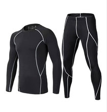 2016 17  thermal underwear men sets compression fitness clothing