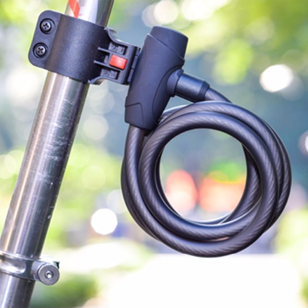 Anti Vol Noir Bike Lock Steel Fil Sûr Vélo Carbone Serrure VTT Montagne Route Vélo Serrure En Acier 2018