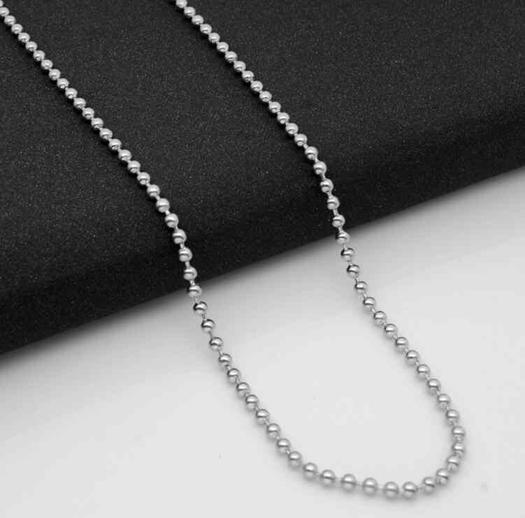 Grubość 2.5mm kobiety mężczyźni 50 60 70 80 cm długie koraliki chain naszyjniki dla DIY biżuteria akcesoria prezenty wj060