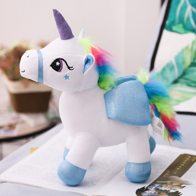 30cm Plush Unicorn Toys Cute Colorful Fly Horse Soft Doll Toys For
