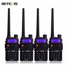 4 unids radio de dos vías walkie talkie retevis rt-5r 5 w 128ch vhf UHF de Banda Dual Radio FM DTMF VOX Scan Portátil Estación de Radio Amateur