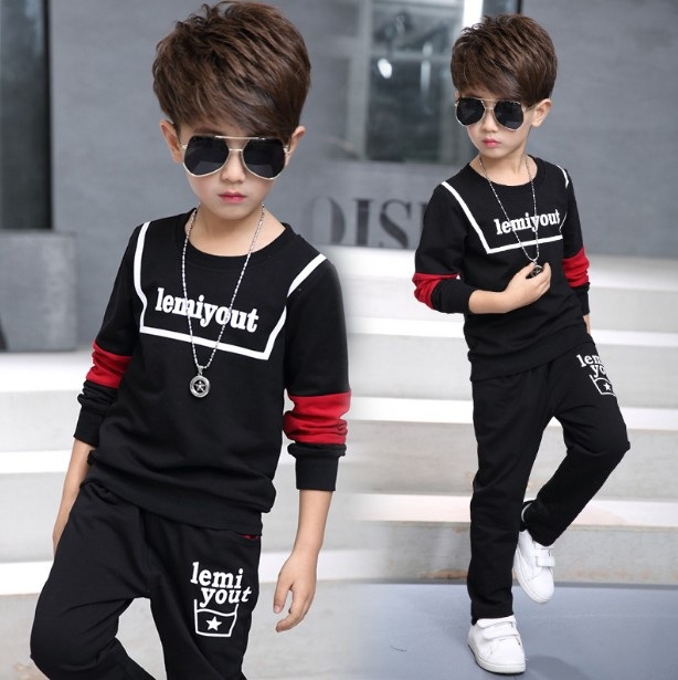 35e8f686fff3 5 13Y new 2017 spring boys fashion clothing sets 2pcs baby boy t shirt+pant clothes  sets kids fashion suit set boy-in Clothing Sets from Mother   Kids