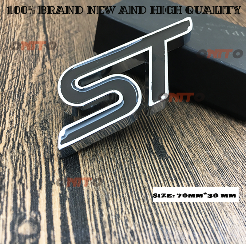 ABS Plastic Emblem ST Sticker Label 3D ST Logo Sticker Sport Style for Ford Focus Fiesta Ecosport Kuga Mondeo Everest Accessory