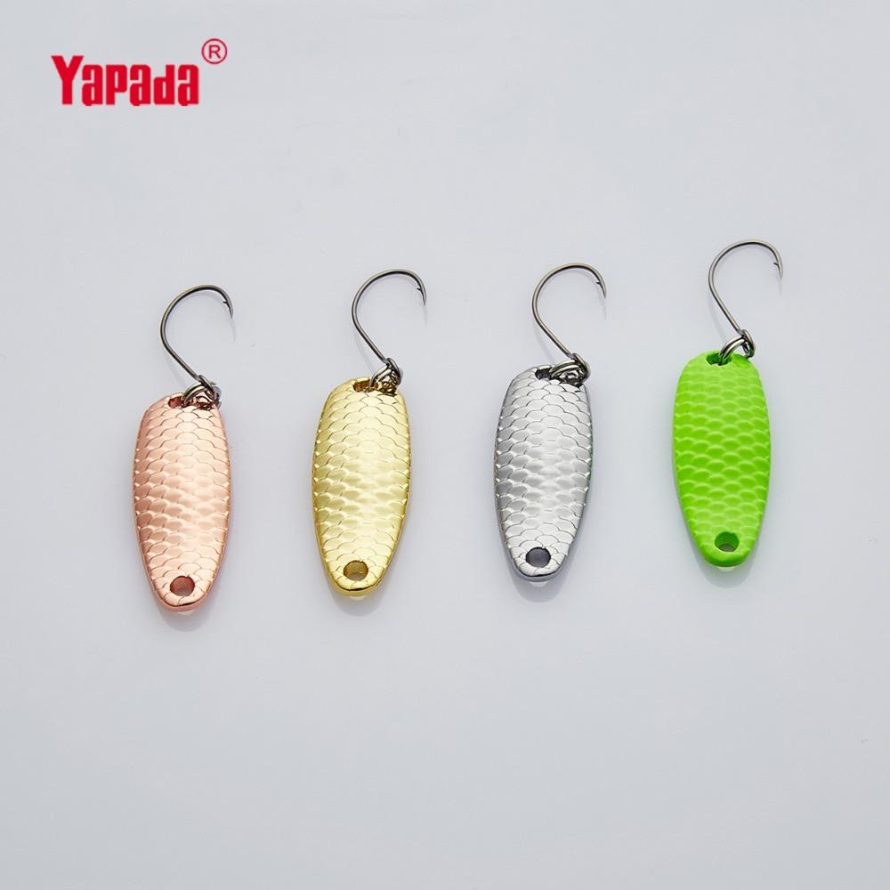 YAPADA Spoon 007 Loong Scale BKK HOOK 3.5g 5g 32 34mm Multicolor 6piece lot Metal Spoon Fishing Lures